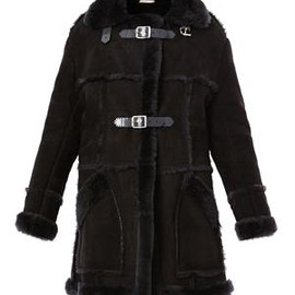 Christopher Kane - Long shearling coat