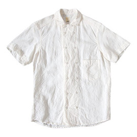 TATAMIZE - 【別注】 TATAMIZE DOUBLE BRESTED LINEN S/S SHIRTS OFF WHITE