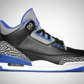 Nike - NIKE AIR JORDAN III RETRO BLACK/SPORT BLUE-WOLF GREY