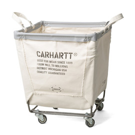 Carhartt x Seele Canvas Basket - Carhartt x Steele Canvas Laundry Cart white