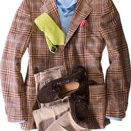 Kiton - Brown Houndstooth Check Cashmere Jacket