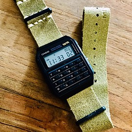 CASIO - CA53W leather nato