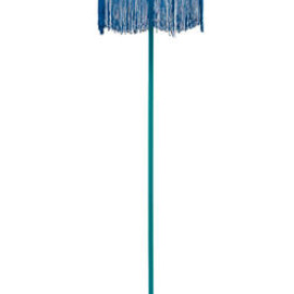 The French Bedroom Company - Fluoro Fringe Turquoise Floor Lamp