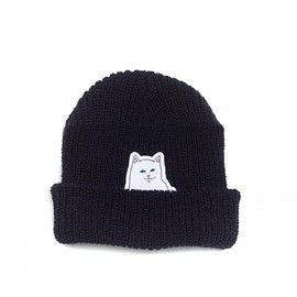 RIPNDIP - LORD NERMAL RIBBED BEANIE (NAVY)