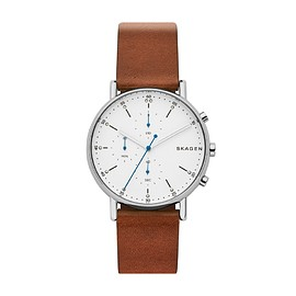 Skagen - Signatur Brown Leather Chronograph