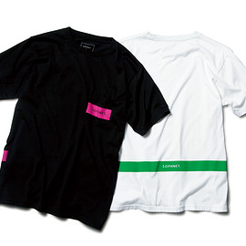 SOPHNET. - SOPHNET. COLOR BAR POCKET TEE