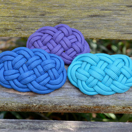 Stalking The Wild Snark - Nautical Ocean Plait True Lovers Knot Celtic Hair Clip Barrette