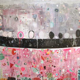 Matías Krahn - El otro lado, 2009, mixed media on canvas