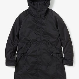 nonnative - STRANGER HOODED COAT POLY TWILL STRETCH OVERDYED