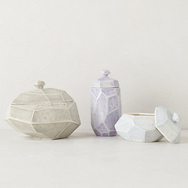 Anthropologie - Faceted Canister