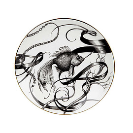 RORY DOBNER - RORY DOBNER 21cm SMOKY FISH SWIRL PERFECT SIDE PLATE