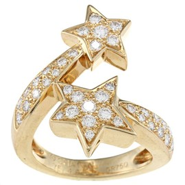 CHANEL - 18k Yellow Gold 1 1/3ct TDW Diamond Comete by Chanel Ring
