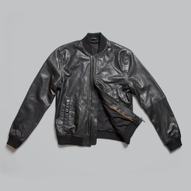 nudie jeans - Bomber Leather Black