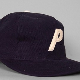 """8 Panel Custom Authentic Baseball Cap"" Navy/Vintage Felt Whale"