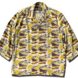 HEADGOONIE - FLYING FUTURE TRAIN ALOHA SHIRTS