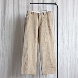 YAECA - Chino Cloth Pants - wide #khaki