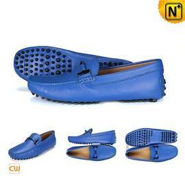 CWMALLS - Mens Slip On Loafers Shoes Blue CW740039