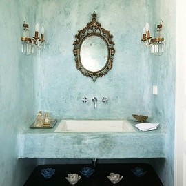 moph - rustic chic, powder room by moph