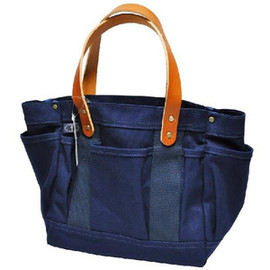 Parrott Canvas - NEW GARDEN TOTE 22OZ DUCK BRIDLE LEATHER(アメリカ製 ニューガーデントートバッグ) NAVY