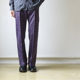Needles - Track Pant - Poly Jac / Geo - Charcoal/Purple