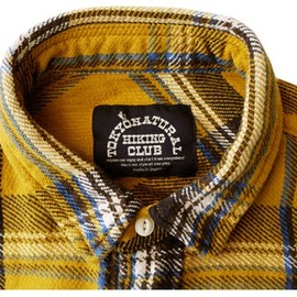 NHC - small collar flannel shirts (yellow)