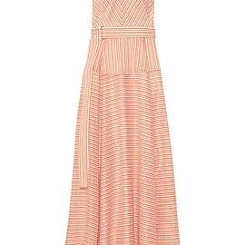 Lela Rose - Striped cotton, linen and silk-blend gown