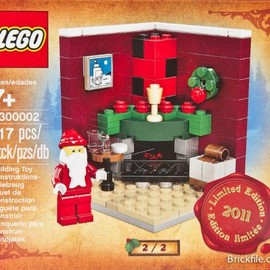 LEGO - Lego Christmas Fireplace Scene 3300002 / 2011 Holiday Set 2 of 2 レゴ ホリディセット 海外限定