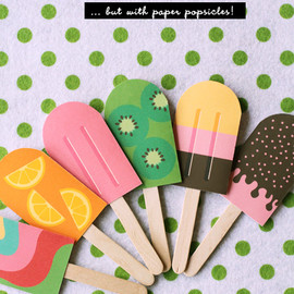 Eat Drink Chic - DIY Paper Popsicle Memory Game