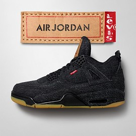 NIKE - Levis ×NIKE Air Jordan 4 Retro 'Triple Black'