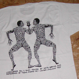 Unknown - CHOREOGRAPHER BILL T. JONES PAINTED BY KEITH HARING AND PHOTOGRAPHED BY TSENG KWONG CHI- LONDON, ENGLAND 1983