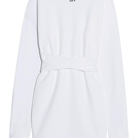 Off-White - Backless cotton-jersey turtleneck sweatshirt