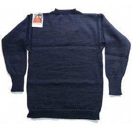Big Size Guernsey Sweater-Pure Aran