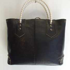 carnet - Pearl Handle/Leather Bag