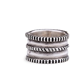 Ernie Lister - Coin Silver Chisel Ring