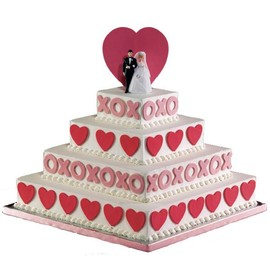 Sweethearts Wedding cake