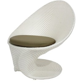 Party All-Weather Coffee Chair, Cream/Clay