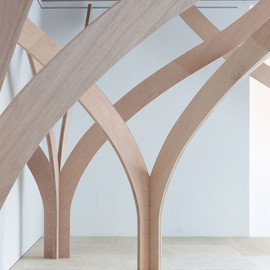 """Naruse Inokuma Architect - """"The Forest"""" Wooden Arches"""