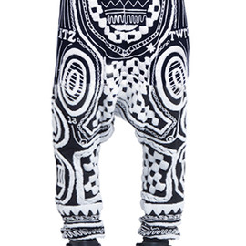 KTZ - Tattoo Towelling Harem trousers