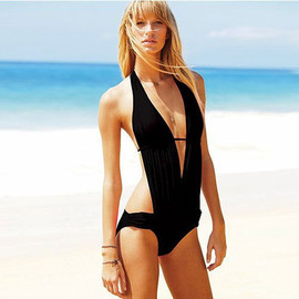 Sexy Deep V Cut Out One Piece Swimwear