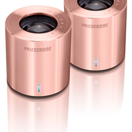 Lifetrons - DrumBass IIIe Metallic Speaker, Limited Edition Rose Gold Plated