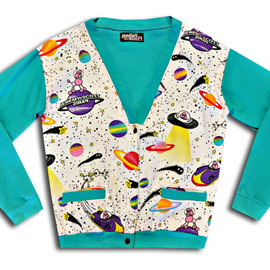 JEREMY SCOTT - Jeremy Scott Poodles In Space Cardigan