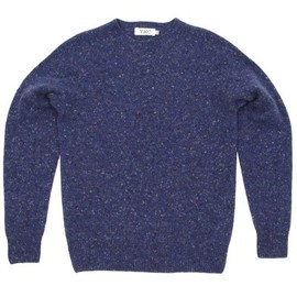 YMC - Crew Neck Marl Knit - Royal