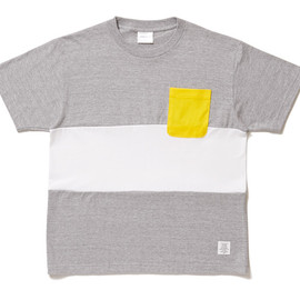 APPLEBUM - Mix Body Pocket T-shirt