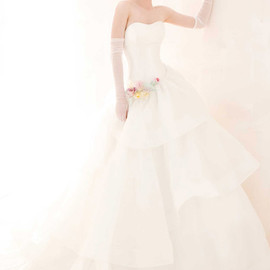 multi color wedding dress
