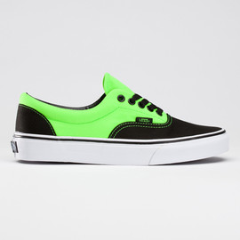 vans - neon era / neon green and black