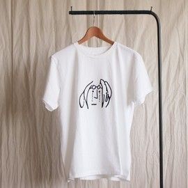 YAECA - Print Tee cry #white