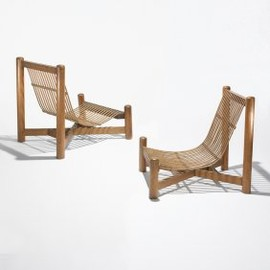 Charlotte Perriand - Pair of Bamboo chairs, ca1937