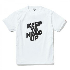 HEAD PORTER PLUS - KEEP YA HEAD UP TEE WHITE
