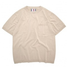 SON OF THE CHEESE - PLANE COTTON Knit Tee Off White