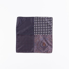 Engineered Garments - Black Four Patterns Pocket Square